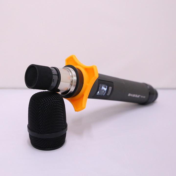 Đầu Thu Karaoke Không Dây Shubole SV-100 + 2 Micro Không Dây UHF Chính Hãng