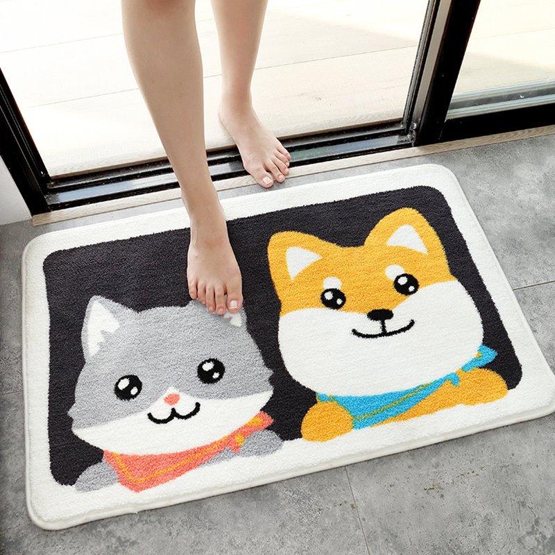 Thảm chùi chân, thảm nhà tắm, thảm cửa ra vào họa tiết Cún Mèo
