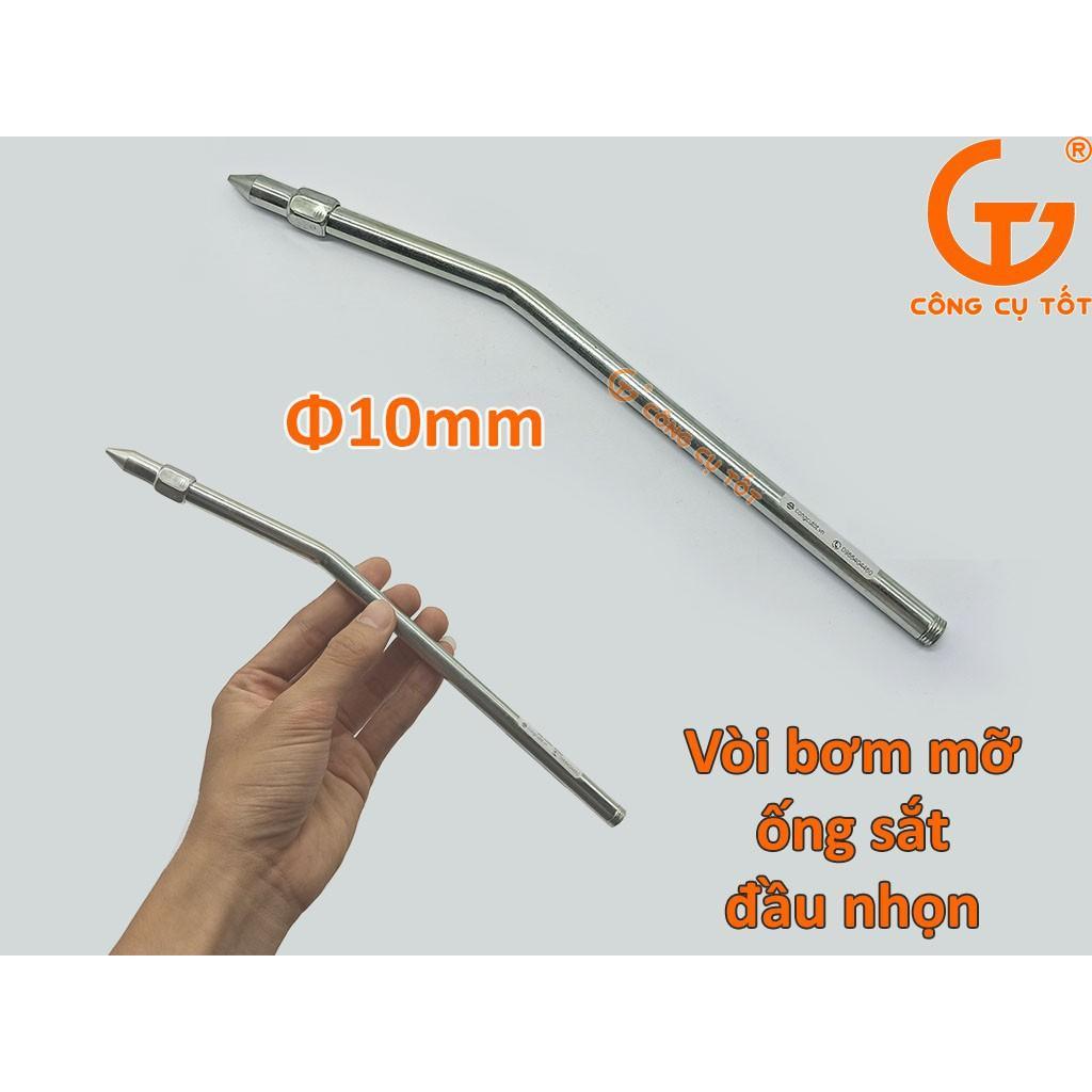 Vòi bơm mỡ ống săt đầu nhọn Φ10mm