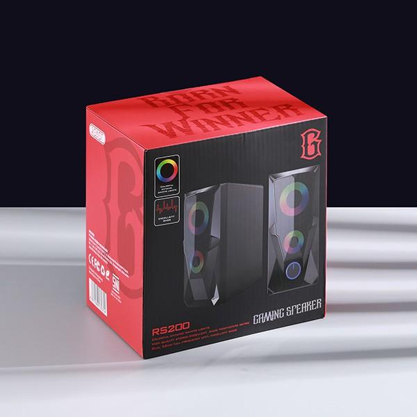Loa Máy Tính Game Thủ ROBOT RS200 - Hiệu Ứng Đèn LED RGB - Hàng Chính Hãng