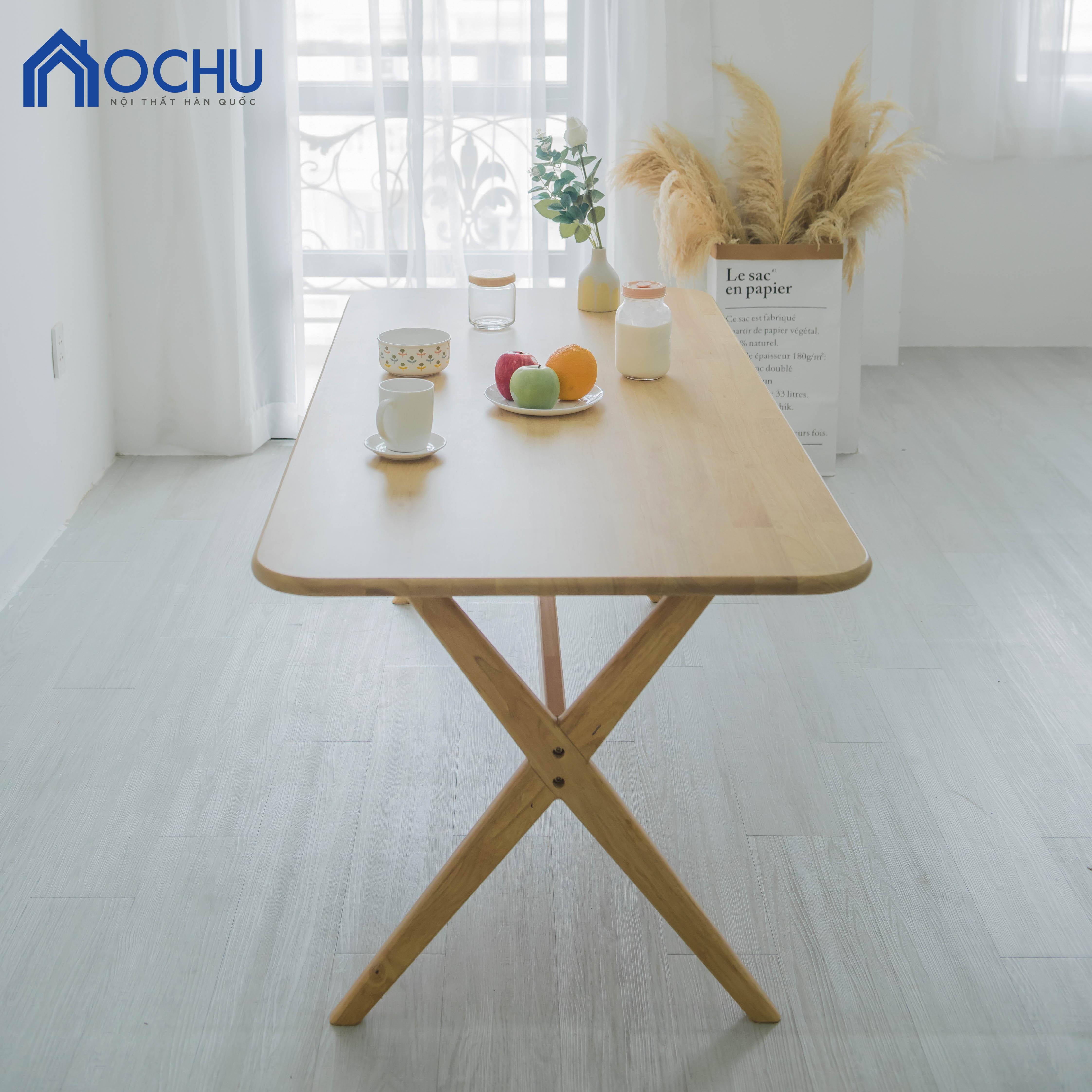 Bàn Ăn Gỗ Cao Su OCHU - Tandy Table - Natural