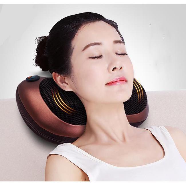 gối massage hồng ngoại,Massage 8 bi magic home