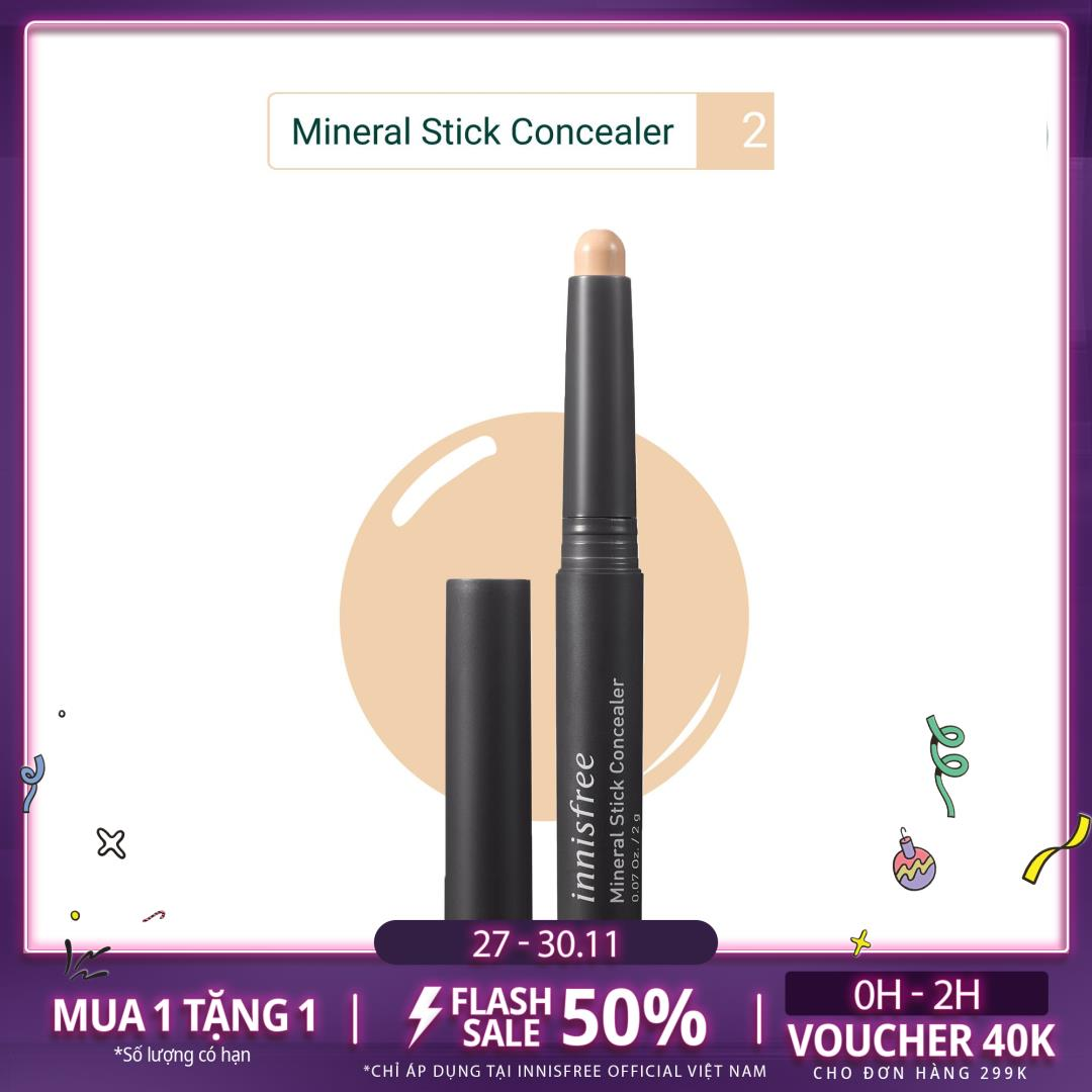 Bút Che Khuyết Điểm Innisfree Mineral Stick Concealer