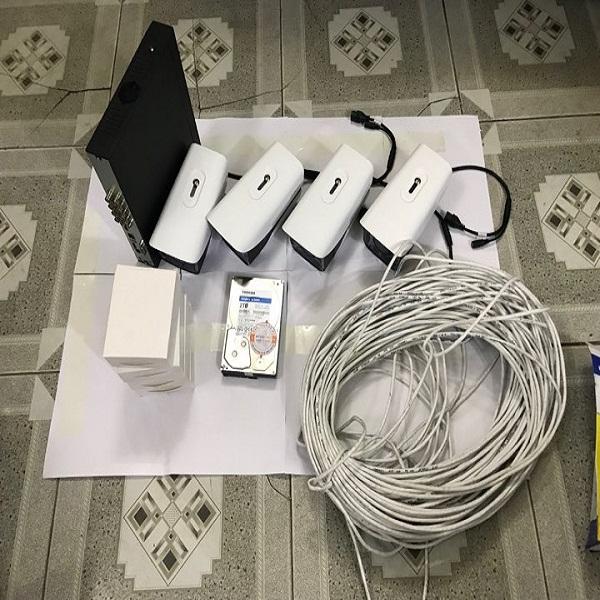 Trọn bộ camera quan sát IPC 4 camera dahua  2.0MP siêu nét - Hàng Chính Hãng