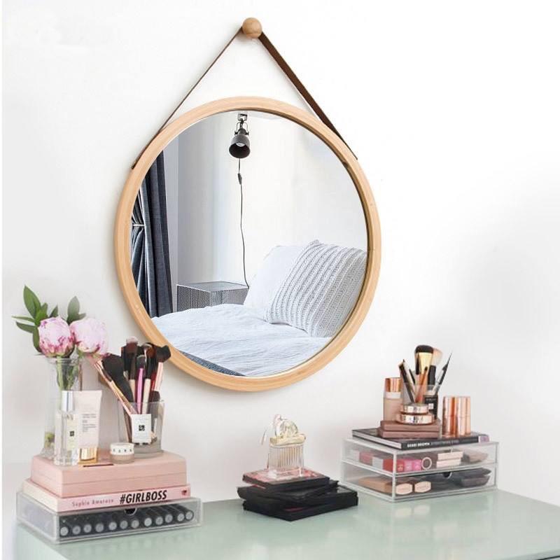 Gương Tròn Treo Tường Khung Gỗ OCHU - Mirror Circle 60