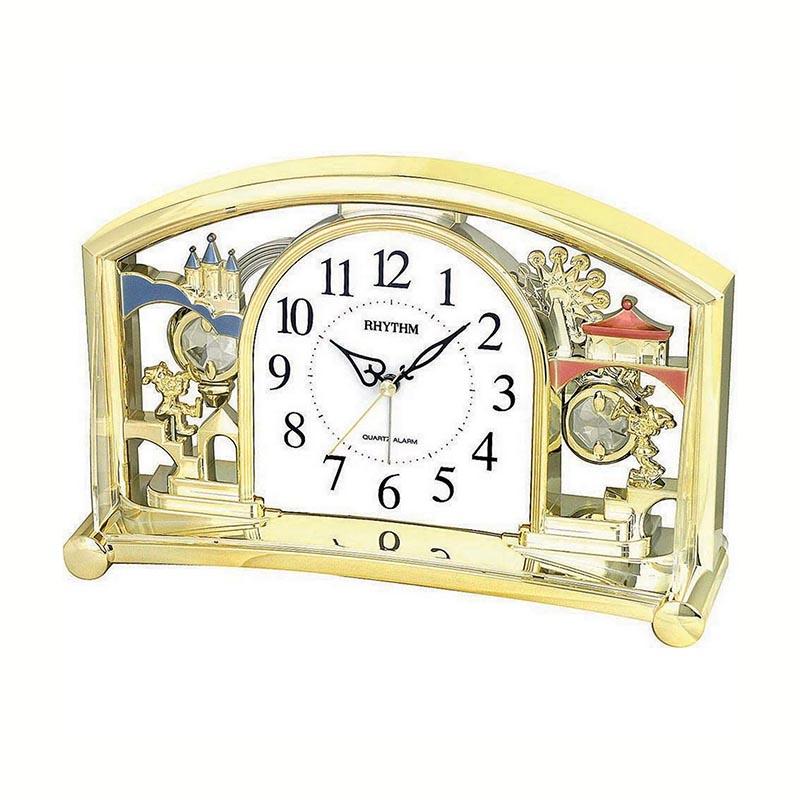 Đồng hồ để bàn, báo thức hiệu RHYTHM- JAPAN 4SE535WT18 (Kích thước 24.0 x 15.5 x 6.8cm)