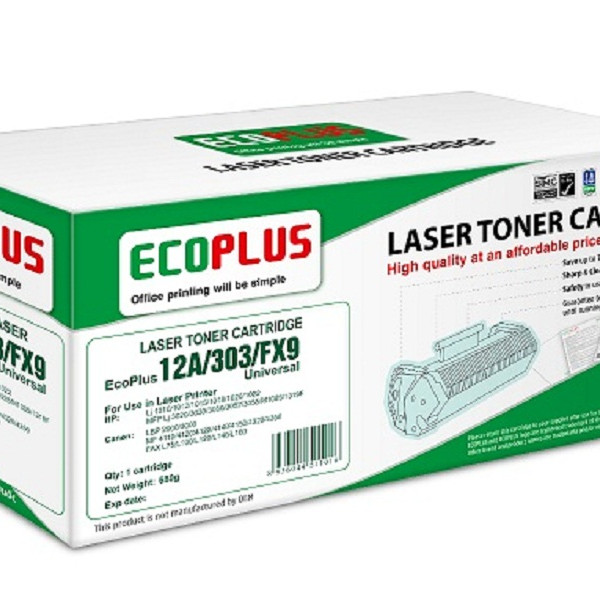 Mực in laser EcoPlus 12A/303/FX9 Universal (Hàng chính hãng)