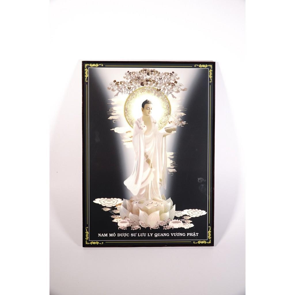 Tranh Phật Dược Sư đứng giữa trời trăng sáng - 2 cỡ