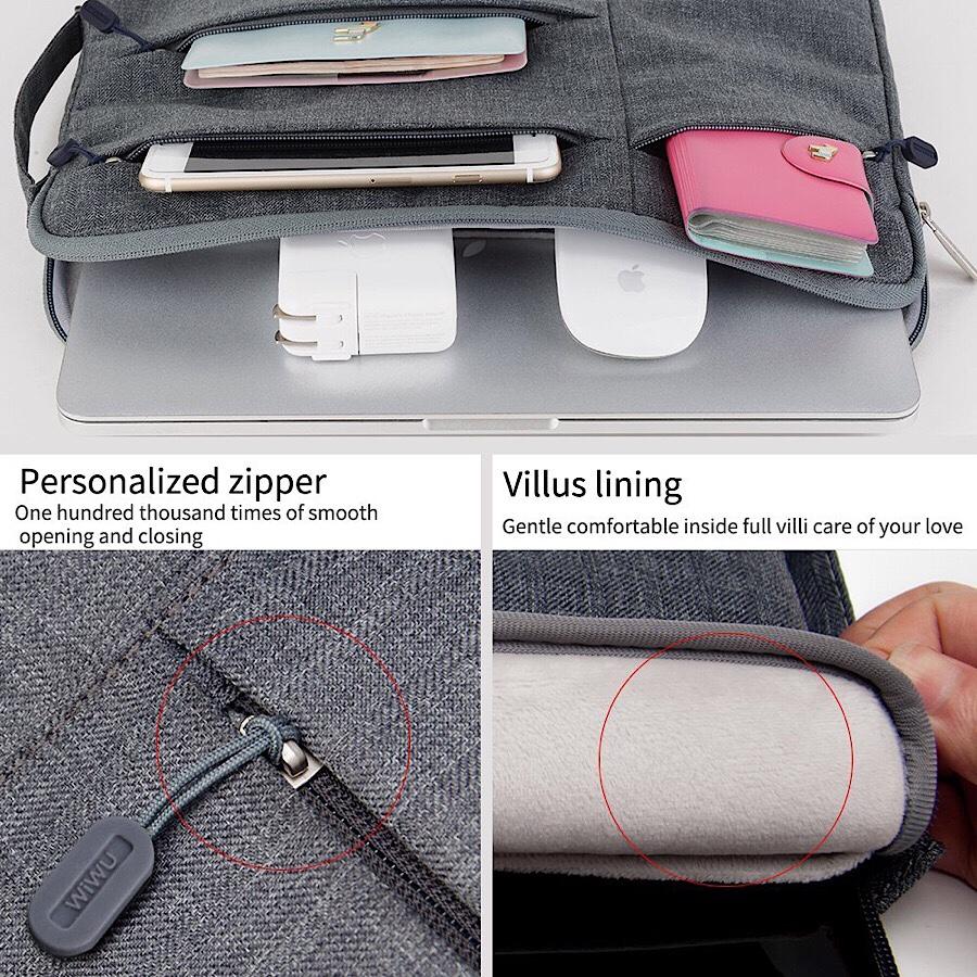 Túi chống sốc MacBook và Laptop 13 inch hiệu GEARMAX Pocket (đen)