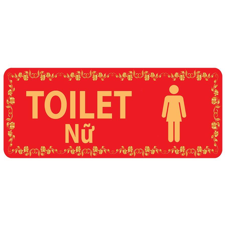 Bảng Chỉ Dẫn Toilet Nam - Nữ - BD-004 (Đỏ)