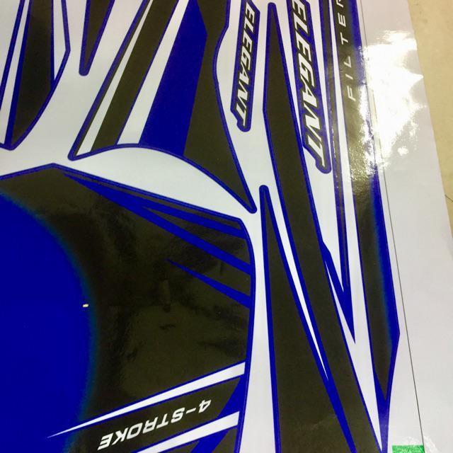 Tem dành cho xe Elegant chỉ trắng xanh đen Rời in mực cao cấp (bộ)