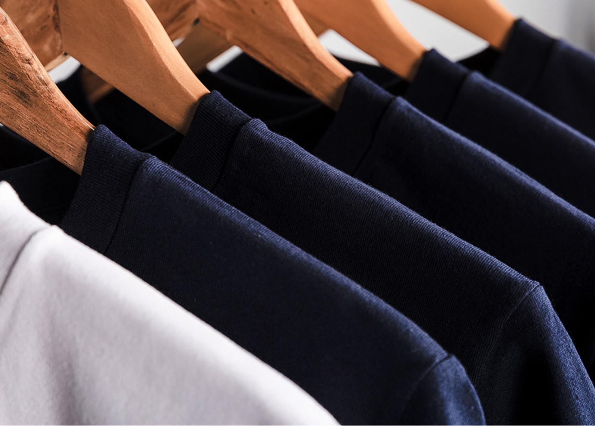 Hình ảnh Áo Thun Nam Unisex thiết kế hình trơn 2 màu Đen / Trắng basic thương hiệu Japas Cotton Ai Cập 190gram, áo phông cổ tròn basic cộc tay thoáng mát, thấm hút mồ hôi - Hàng chính hãng