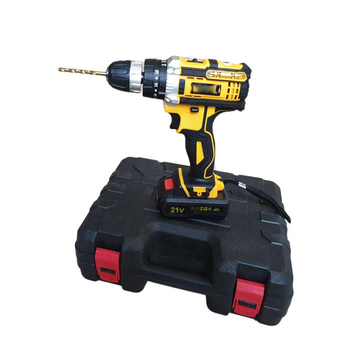 Bộ máy khoan pin 21V 3 chế độ khoan tường khoan búa, khoan sắt, bắt vít máy, máy 2 pin, đảo chiều kèm 13 mũi khoan