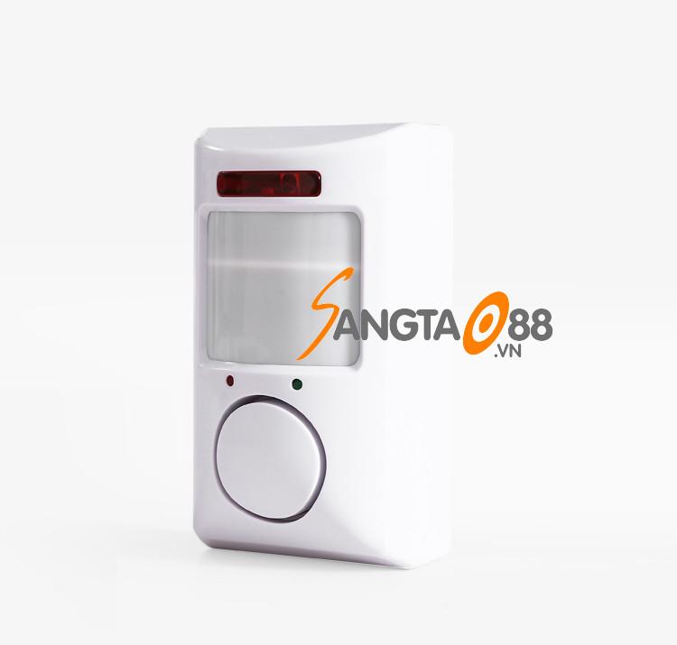 Thiết bị chống trộm- báo khách thông minh, còi hú lớn cảm biến có ĐKTX version3 (Tặng đèn pin bóp tay mini-giao màu ngẫu nhiên)