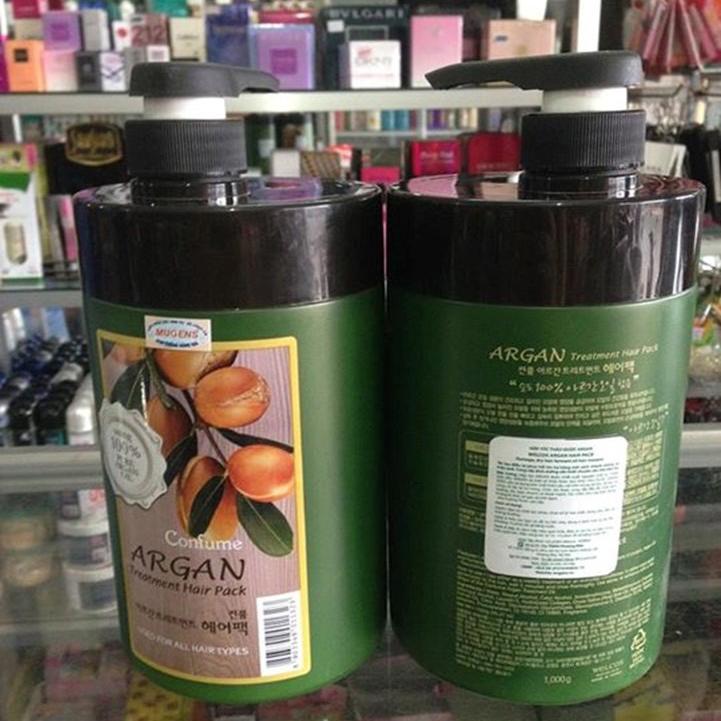Dầu hấp tóc thảo dược Confume Treatment Argan Hair Pack Hàn Quốc 1000g + Móc khóa