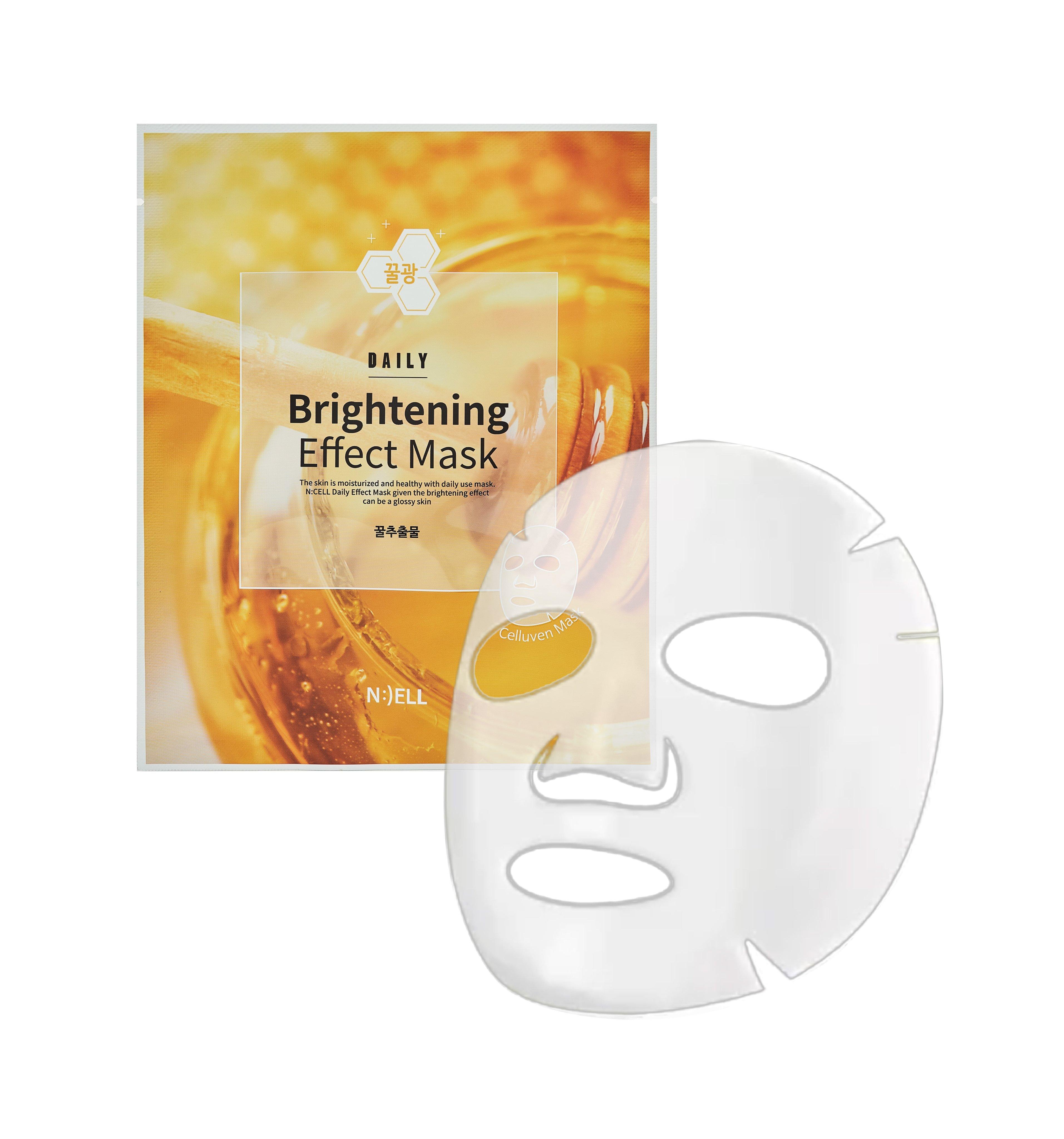Combo 07 Mặt Nạ N:CELL Daily Brightening Effect Mask Trắng Sáng Hồng Da Mờ Thâm Dưỡng Ẩm 25g