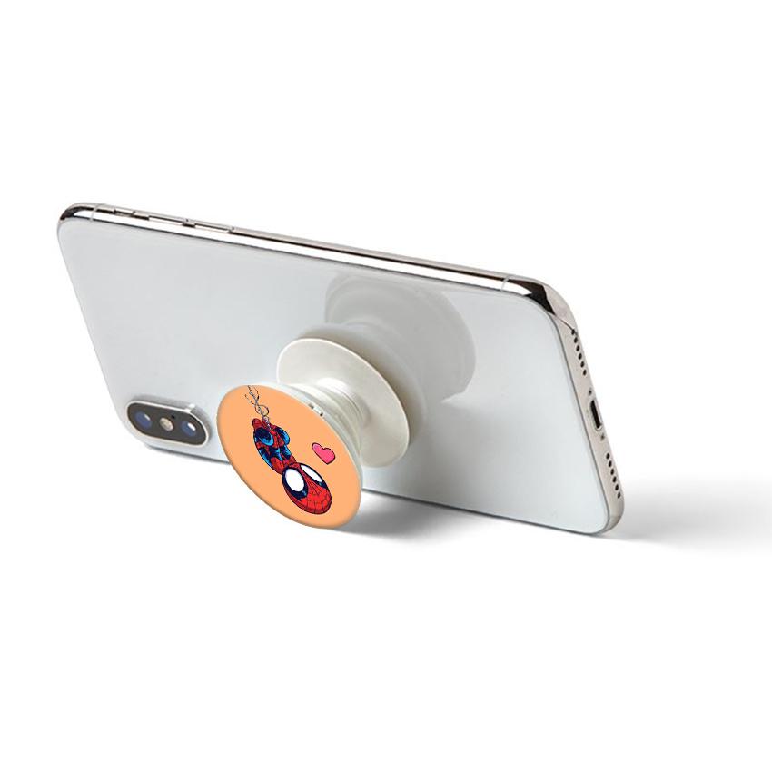 Gía đỡ điện thoại đa năng, tiện lợi - Popsockets - In hình Người nhện chibi - Hàng Chính Hãng