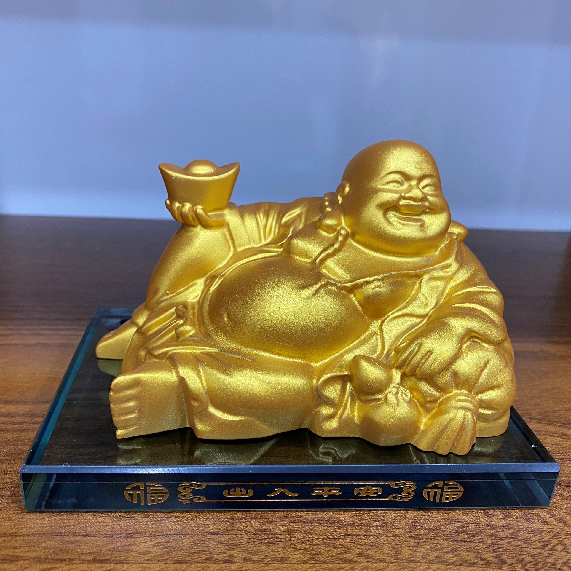 Tượng Phật Di Lặc/Tượng Phật Thế Âm Bồ Tát Trang Trí Xe Hơi - Chính hãng