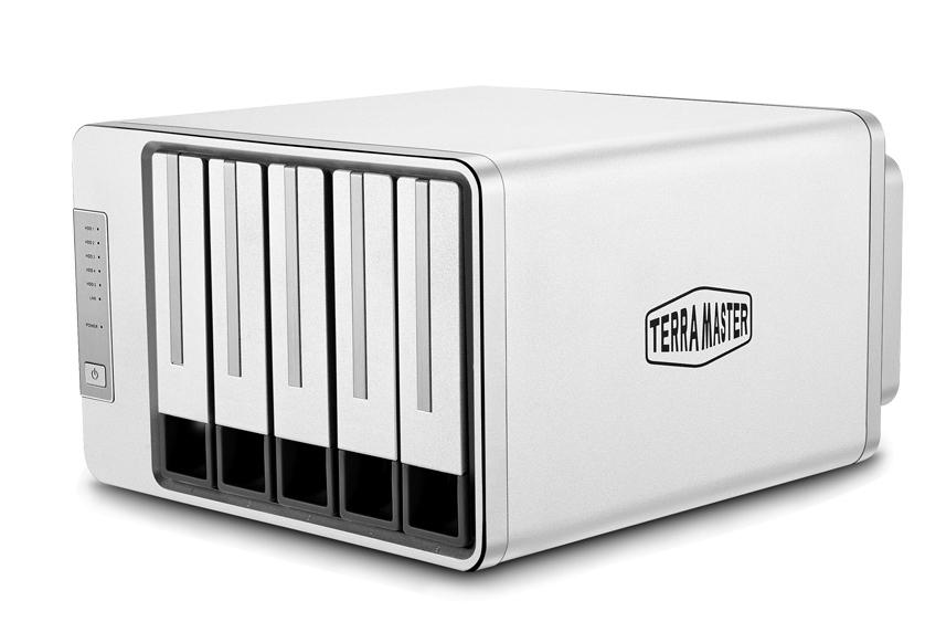 Bộ lưu trữ mạng NAS TerraMaster F5-421, Intel Quad-core 1.5GHz, 4GB RAM, 410MB/s, LAN 4x 1GbE, 5 khay ổ cứng RAID 0,1,5,6,10,JBOD,Single - Hàng chính hãng