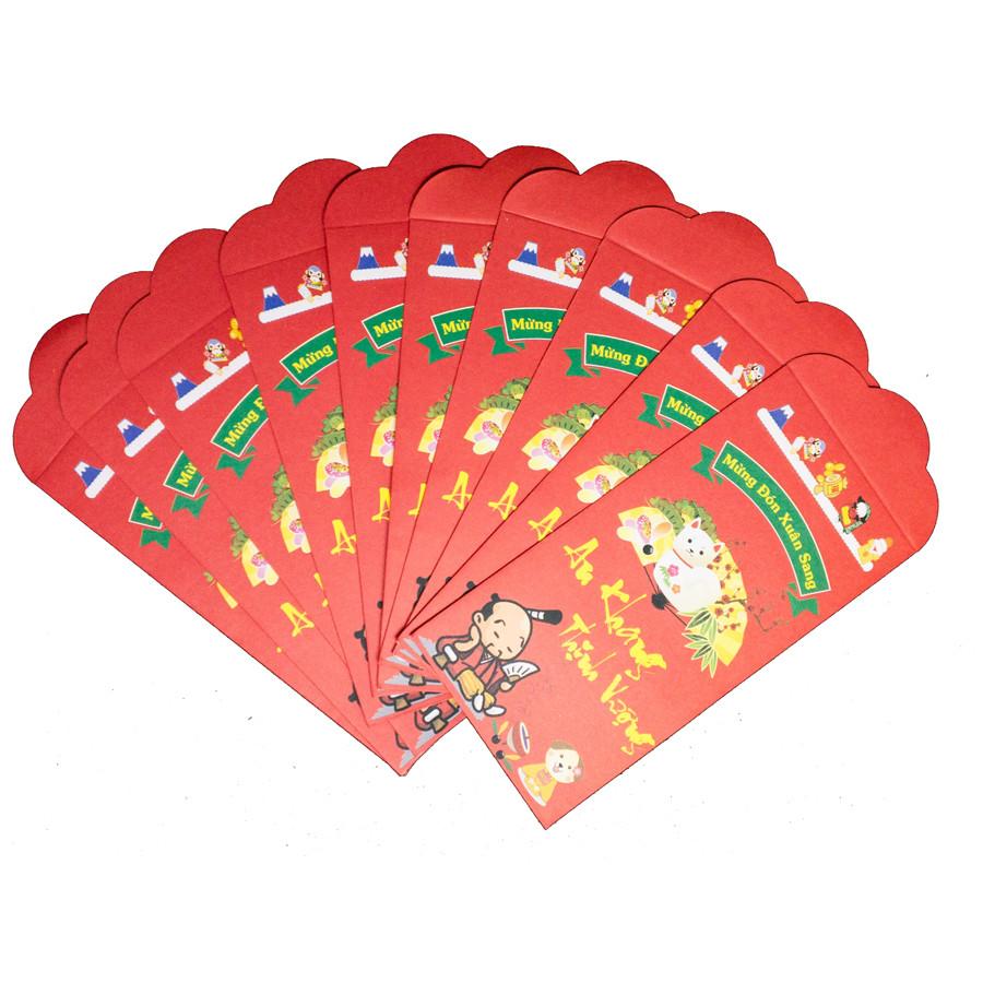 Set 10 Bao Lì Xì Tết Mừng Đón Xuân Sang - An Khang Thịnh Vượng