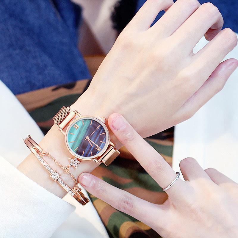 Đồng hồ thời trang nữ dây lưới nam châm thời trang cực sành điệu cực hot hit ZO34