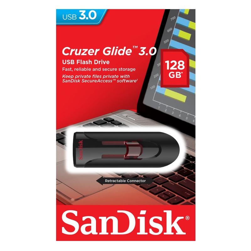 USB 3.0 Sandisk CZ600 Cruzer Glide 128GB - Hàng Nhập Khẩu