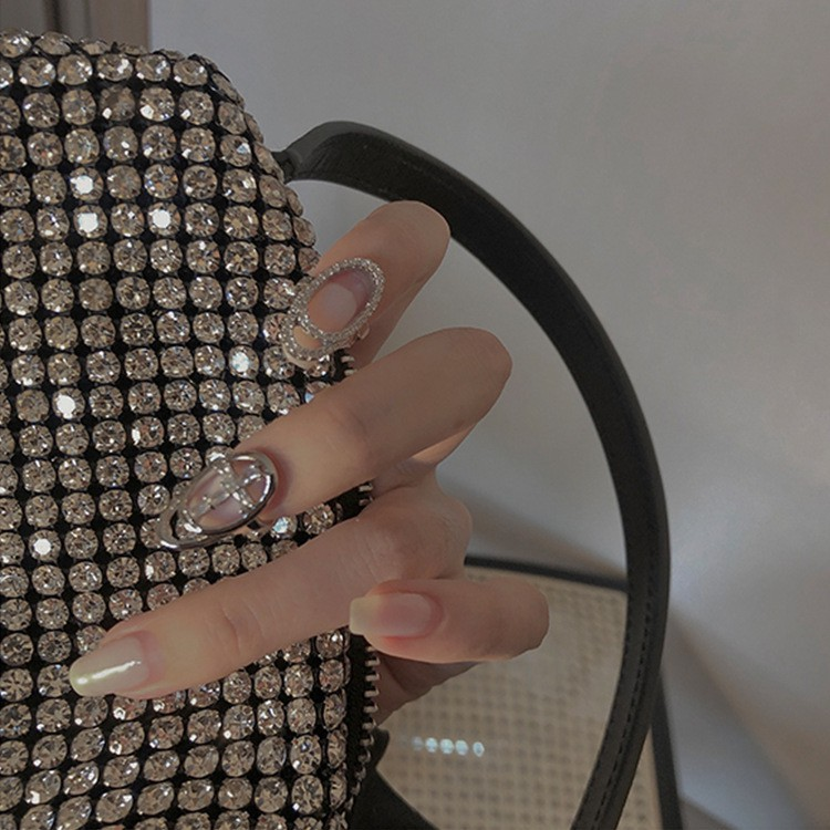 Nhẫn móng tay giả đính đá Komohana hàng cao cấp, đeo móng tay đẹp-độc-sang chảnh