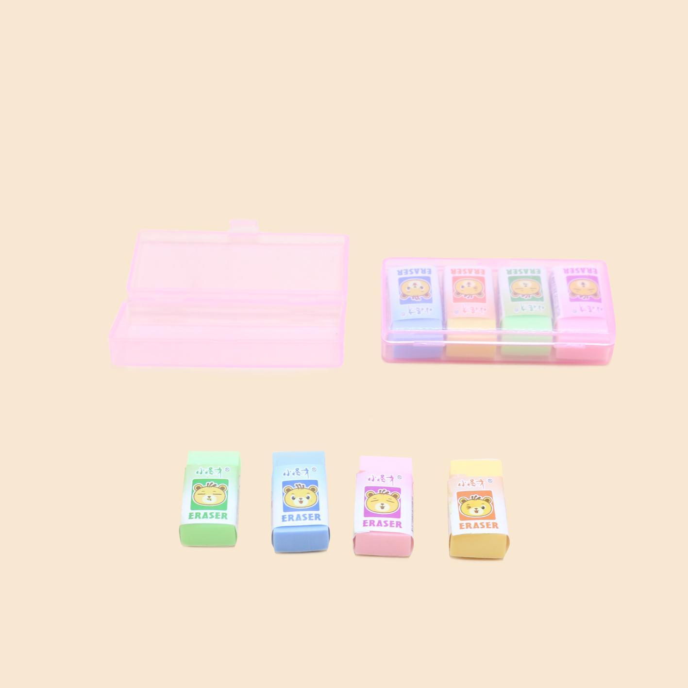 Bộ 2 hộp gôm hồng - Set of 2 Eraser boxes
