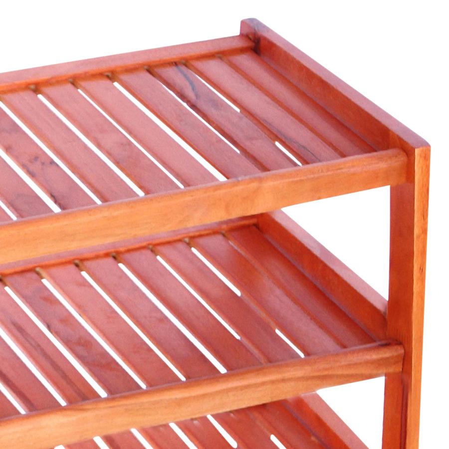 Kệ Dép 4 Tầng Phương Lâm (60cm) - Màu Nâu