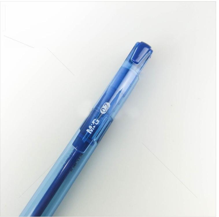 Combo 5 cây Bút bi xanh văn phòng M&G ABPY0802 (0.7mm)