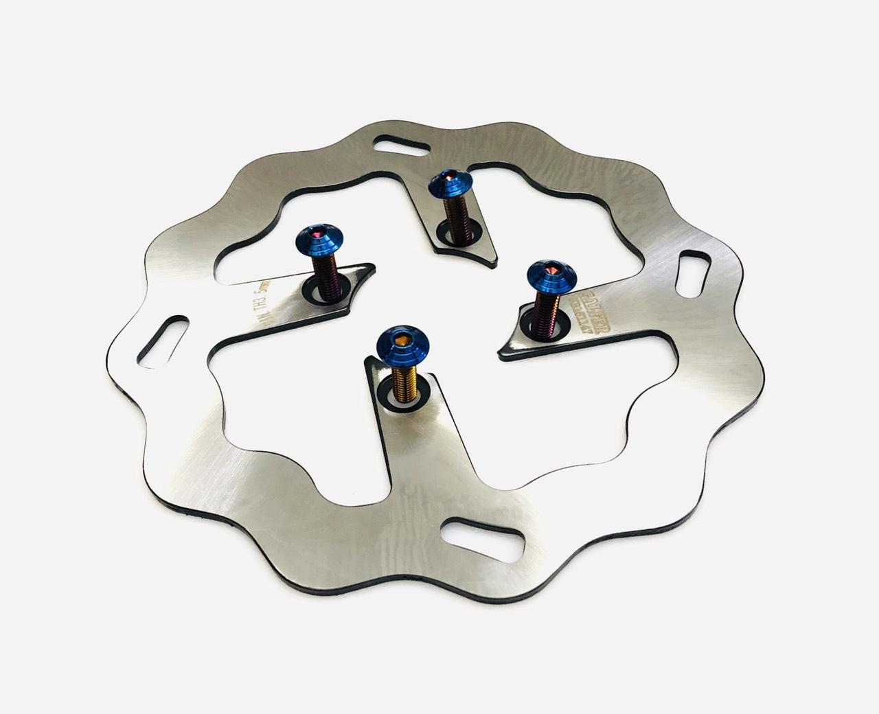 đĩa thắng galfer 220mm kiểu 1 lổ có ốc đĩa dành cho xe máy