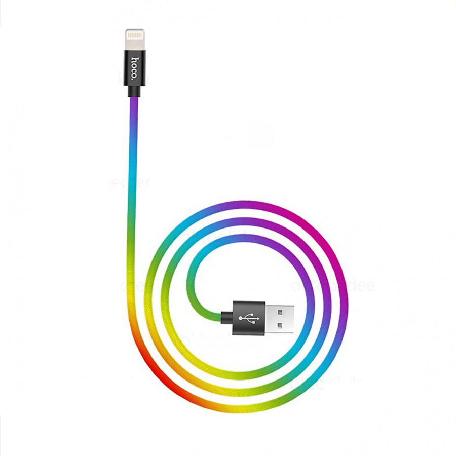Cáp sạc Apple Lightning iPhone/iPad Hoco X26 Plus 3.0A dài 1m phiên bản đặc biệt Hàng Chính Hãng
