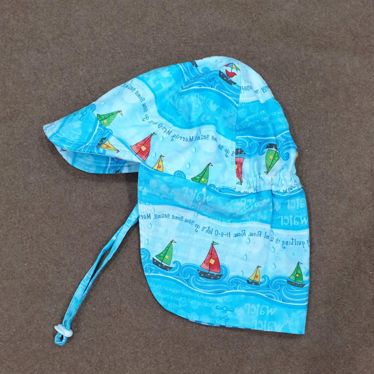 Mũ che gáy chống nắng cho bé trai, bé gái từ 0 - 12 tuổi mẫu thuyền, biển cả mũ đi dã ngoại