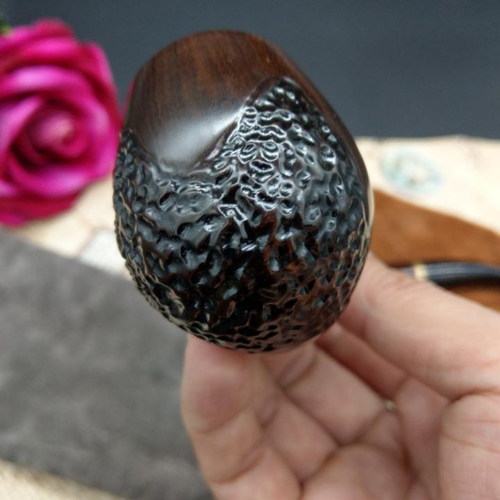 Tẩu lọc gỗ mun cao cấp - Tặng tai nghe + Vòng đeo tay chuỗi hạt