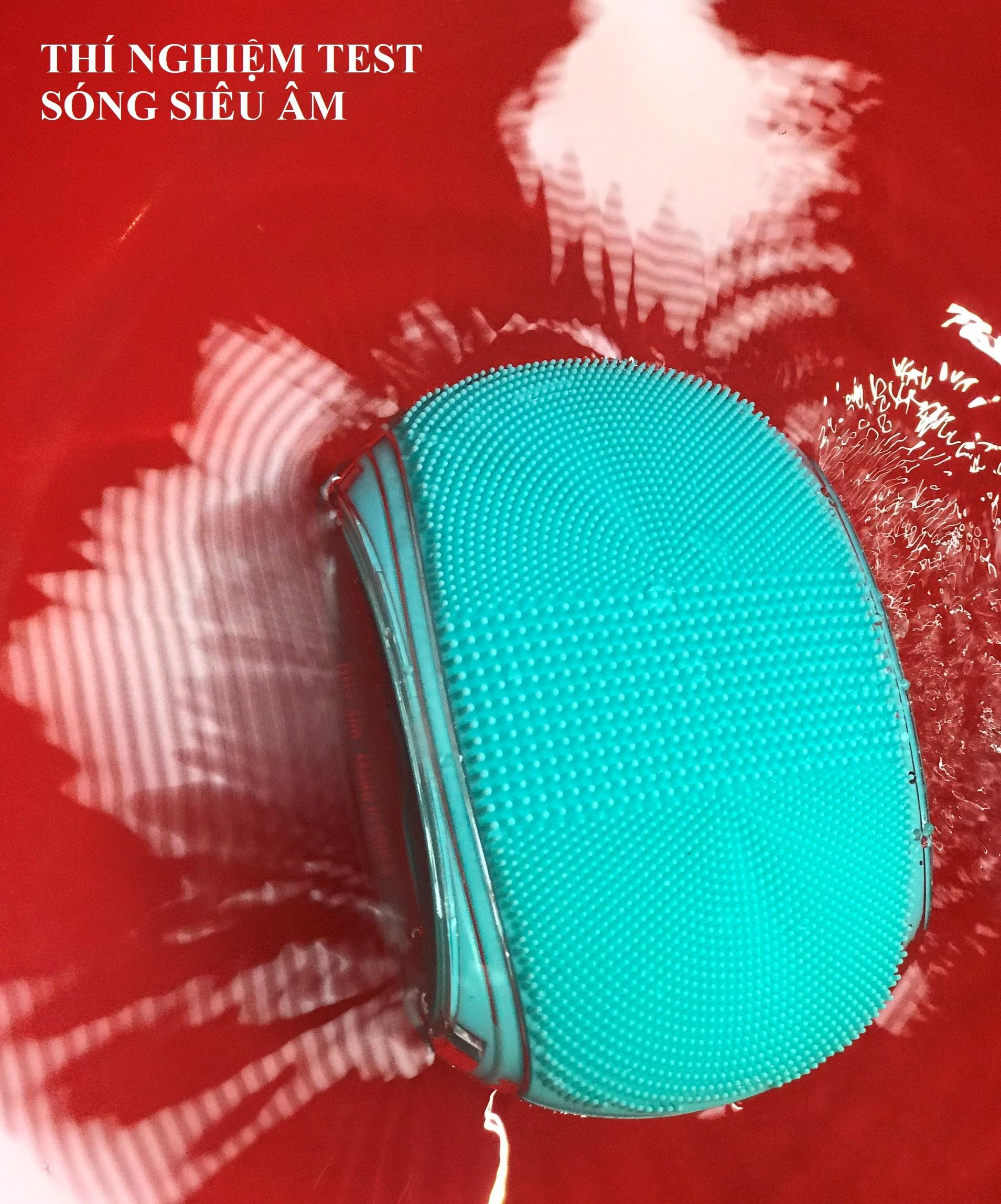 Máy tẩy da chết và massage cơ thể USA Silicone kháng khuẩn, công nghệ siêu âm HoMedics BDY-300BL nhập khẩu USA