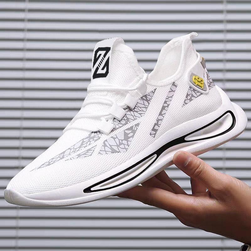 Giày Sneaker Nam, Vải Mềm Ôm Chân Họa Tiết Cực Ngầu, Đế Cao Su Đi Siêu Êm G174