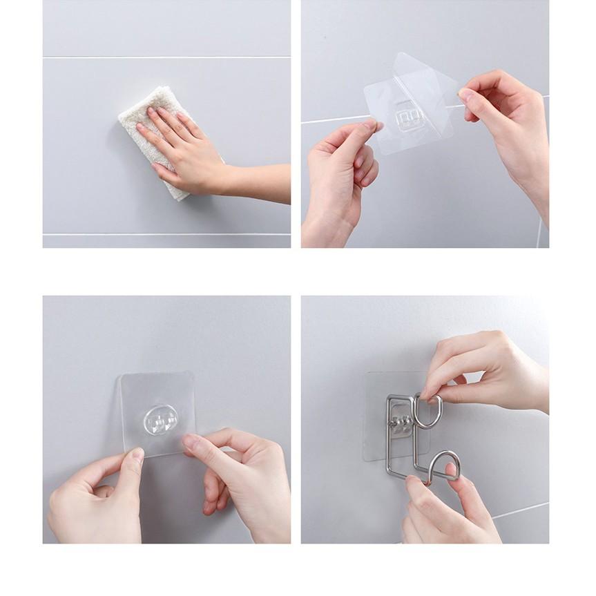 Combo 2 móc dính tường treo chậu nhà tắm, móc inox treo đồ gia đình tiện tiện ích