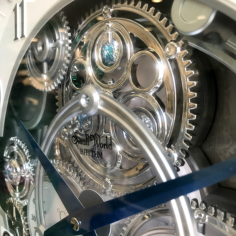 Đồng hồ treo tường Nhật Bản Rhythm Magic Motion 4MH886WD05 Kt 39.0 x 41.0 x 8.6cm. Dùng PIN.