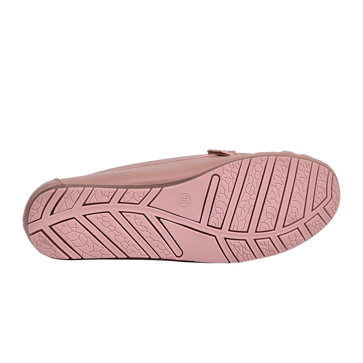 Giày lười nữ Zucia thiết kế mũi vuông họa tiết cắt Lazer kèm khóa kim loại - GHL47