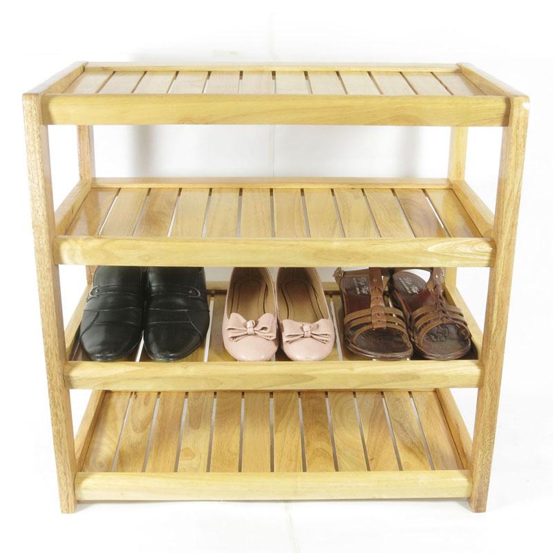 Kệ giày dép gỗ tự nhiên 4 tầng rộng 60cm (TN)