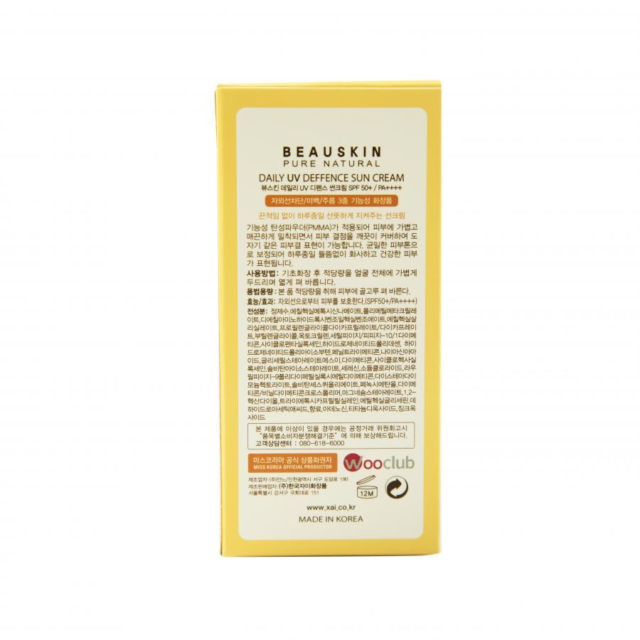 Kem chống nắng Beauskin Daily UV Deffence Sun Cream 50+ SPF/PA++++ - 50ml
