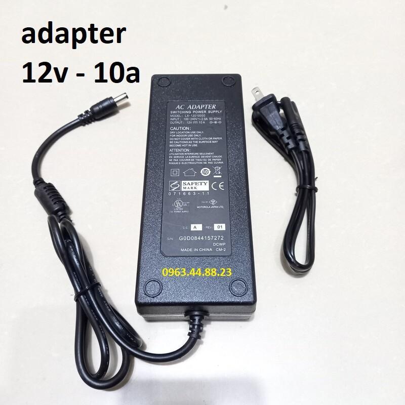 Nguồn adapter 12v-5a, 10A cho camera, đầu ghi hình và đèn led.