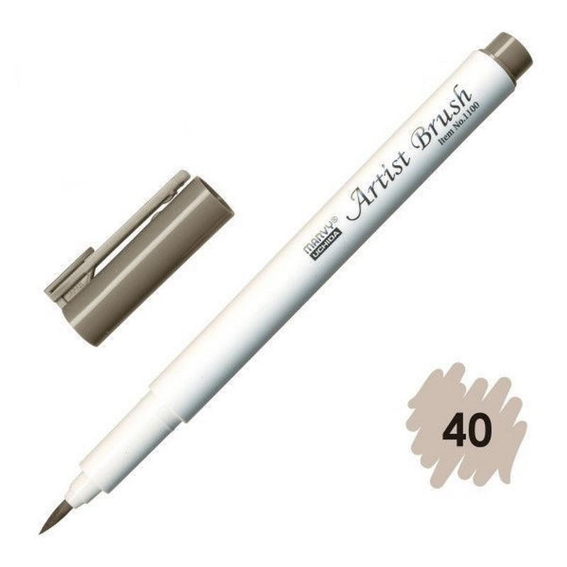 Bút lông đầu cọ viết calligraphy Marvy Artist Brush 1100 - Brownish Grey (40)