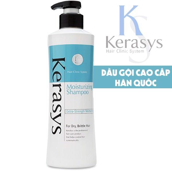 Bộ dầu gội/xả Kerasys Moisture cân bằng độ ẩm cho tóc xơ rồi Hàn Quốc (2x600ml) tặng kèm móc khoá