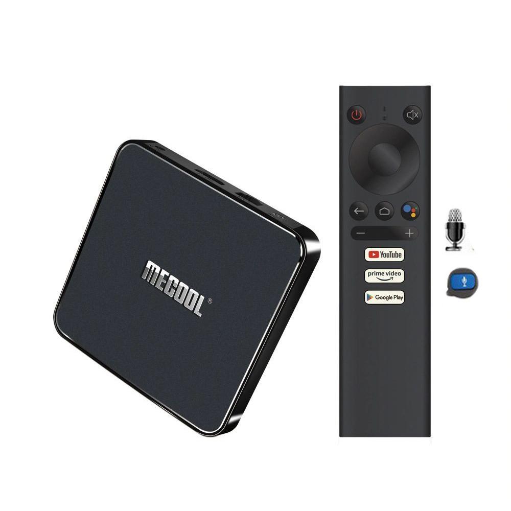 ANDROID TV BOX MECOOL KM1 RAM 4G BẢN QUYỀN GOOGLE, ĐIỀU KHIỂN GIỌNG NÓI  KM1 ANDROID TV 9  - Hàng Nhập Khẩu