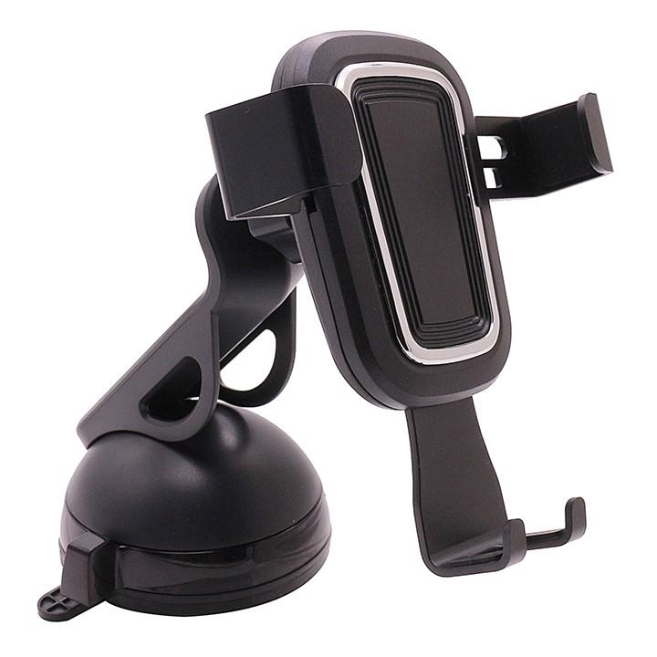 Giá đỡ điện thoại Xoay 360 Thiết kế nhỏ gọn độ trên ô tô, xe hơi YQ-ZL012-A, Giá đỡ hỗ trợ các thiết bị có độ rộng màn hình từ 4-7 inch, Phần đế được thiết kế hút chân không cực kỳ chắc chắn