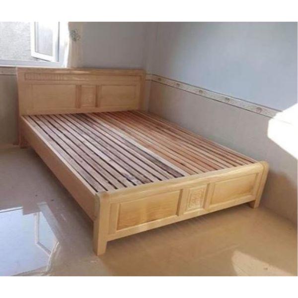 Giường Ngủ Gỗ Sồi Nga 1m2x2m Màu Tự Nhiên