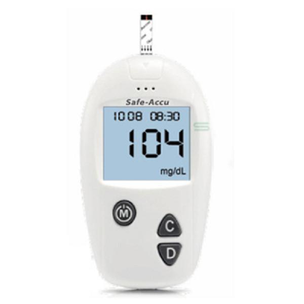 Bộ máy đo đường huyết Safe Accu tặng 1 hộp 50 que thử và hộp 50 kim chích máu