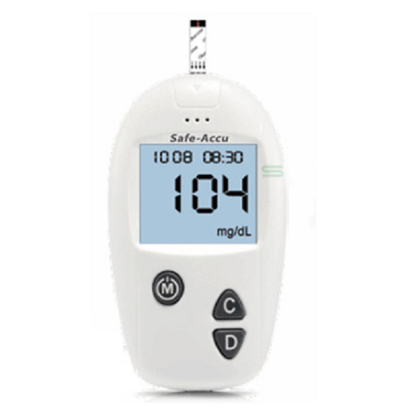 Bộ máy đo đường huyết Safe Accu tặng 1 hộp 25 que thử và hộp 50 kim chích máu