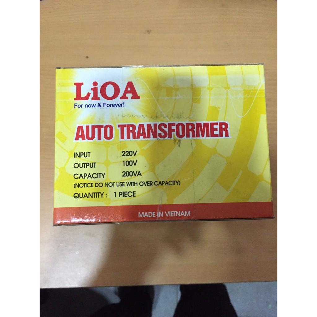 Biến Áp Đổi Nguồn LIOA 200VA. Đổi Điện 220v Sang 100v, Biến Áp Tự Ngẫu 0.2kva DN002